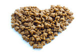 Pet food heart — Stock fotografie