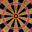 Texture of the dartboard — Stock Photo