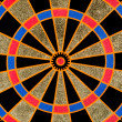 Stock Photo: Texture of the dartboard