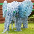 Elephant made from plastic bottles — Stock Photo