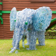 Stock Photo: Elephant made from plastic bottles