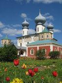 The Famous Tikchvin Monastery. — Stock Photo
