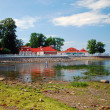 Royalty-Free Stock Photo: Shallow Finnish Gulf in Petrodvorets with Monplezir palace in the background.