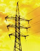 Electric power line — Stock Photo