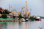 The port of Vyborg, Russia. — Stock Photo