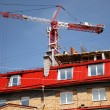Stock Photo: Building of new houses.