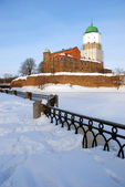 Vyborg castle in winter. Russia — Stock Photo