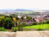 Panorama of Stirling (Scotland) from famous Stirling Castle — Foto Stock