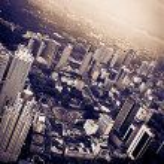 Dramatic city — Stock Photo
