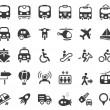 Transportation Vector Icons — Vector de stock #8474014