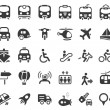Transportation Vector Icons - Stock Vector