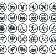 Transportation vector icons set — ベクター素材ストック