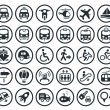 Stock Vector: Transportation vector icons set
