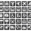 Transport icon set — Vector de stock #8474019