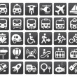 Transport icon set — Stockvektor