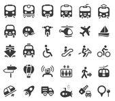 Icone vettoriali di trasporto — Vettoriale Stock