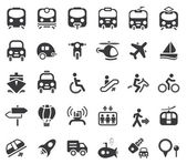Transportation Vector Icons — Vetor de Stock