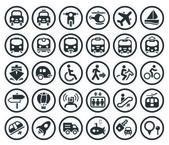 Set di icone di trasporto vettoriale — Vettoriale Stock
