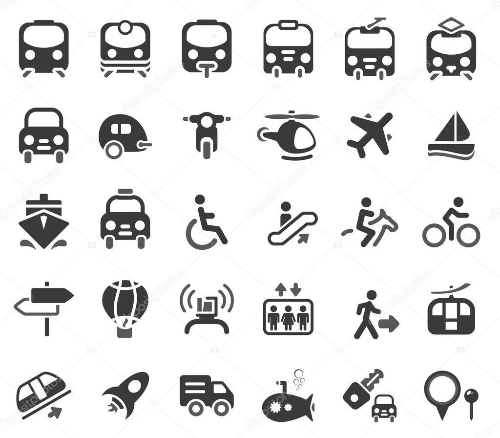 Set of vector transportation icon  Stock Vector #8474014