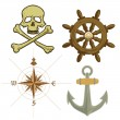 iconos de pirata — Vector de stock  #8749005