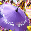 CHIANG MAI, THAILAND - FEBRUARY 4: Floral float detail in proces - Zdjęcie stockowe