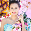 CHIANG MAI, THAILAND - FEBRUARY 4: Traditionally dressed girl in - Stock Photo