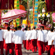 CHIANG MAI, THAILAND - FEBRUARY 4: Procession rear view on Chian - Zdjęcie stockowe