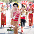 CHIANG MAI, THAILAND - FEBRUARY 4: Traditionally dressed girls i - Stock Photo