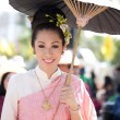 CHIANG MAI, THAILAND - FEBRUARY 4: WomTraditionally dressed — Stock Photo #9100124