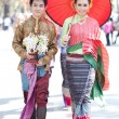 Stock Photo: CHIANG MAI, THAILAND - FEBRUARY 4: Traditionally dressed Thai co