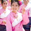Stock Photo: CHIANG MAI, THAILAND - FEBRUARY 4: Traditionally dressed womans