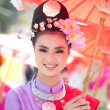 CHIANG MAI, THAILAND - FEBRUARY 4: Traditionally dressed woman i — Stock Photo