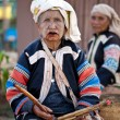 Stock Photo: PAI, THAILAND - FEB 3: Unidentified Lahu tribe old womwith lu
