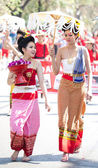 CHIANG MAI, THAILAND - FEBRUARY 4: Traditionally dressed girls i — Stock Photo