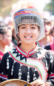 CHIANG MAI, THAILAND - FEBRUARY 4: Traditionally dressed Mhong h — Stock Photo