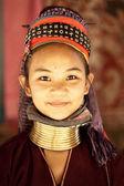 NAI SOI, THAILAND - FEB 3: Nam Piang Din Karen long neck young w — Stock Photo
