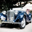 Stock Photo: HUA HIN - DECEMBER 19: Blue Car on Vintage Car Parade 2009 at So