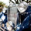 HUHIN - DECEMBER 19: Part of Blue Car on Vintage Car Parade 20 — Stock Photo #9310941