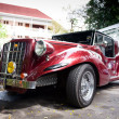 HUHIN - DECEMBER 19: Red Car on Vintage Car Parade 2009 at Sof — Stock Photo #9311039