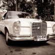 HUHIN - DECEMBER 19: Old Mercedes on Vintage Car Parade 2009 a — Stock Photo #9311085