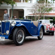HUA HIN - DECEMBER 19: Blue Car on Vintage Car Parade 2009 at So — Foto de Stock
