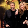 Director Luc Besson and actress Louise Bourgoin — Stock Photo