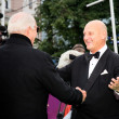 Nikita Mikhalkov meet ing guests of the festival - Stockfoto