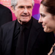 Director Claude Lelouch and actress Audrey Dana, — Stock Photo
