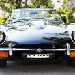 Jaguar E-Type on Vintage Car Parade - Stock Photo