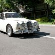 Jaguar Mark II on Vintage Car Parade - Stock Photo