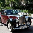Stock Photo: Rolls Royce on Vintage Car Parade