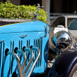 Front of Alvis Speed 20 on Vintage Car Parade - Stock Photo