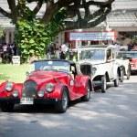 Cars row on Vintage Car Parade — Stock Photo