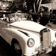 Stock Photo: Mercedes Benz 220S cabriolet on Vintage Car Parade